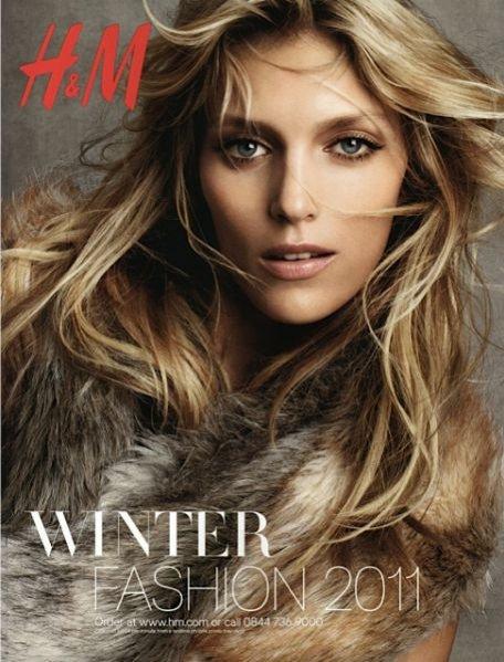 Anja Rubik w zimowej kampanii H&M
