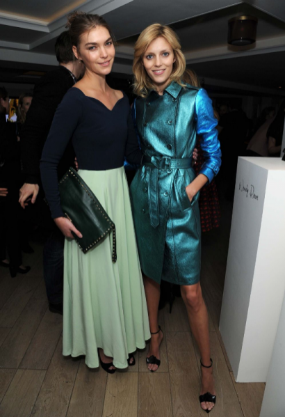 Arizona Muse i Anja Rubik na londyńskim cocktail party