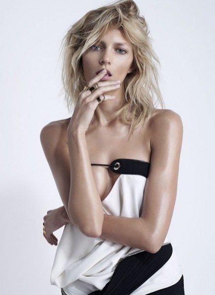 Anja Rubik na okładkowej sesji dla S Moda, dodatku El Pais