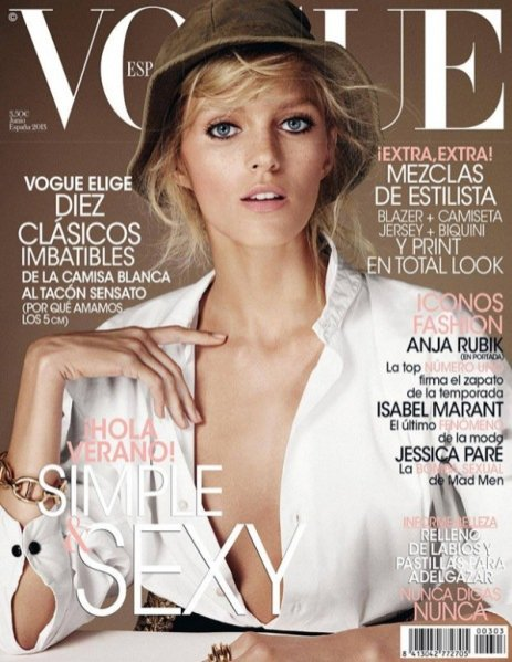 Anja Rubik na okładce Vogue Spain czerwiec 2013