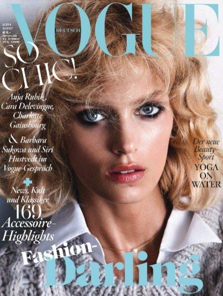 1. Bitwa na włosy - Anja Rubik na okładce Vogue Deutsch