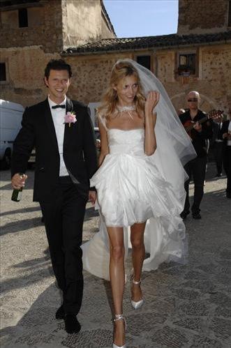 Anja Rubik i Sasha Knezevic - w dniu ślubu