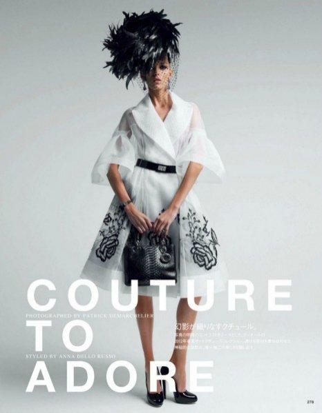 Anja Rubik w kreacjach Dior Couture w japońskim Vogue