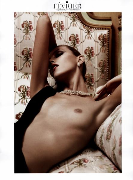 Anja Rubik w kalendarzu Vogue Paris 2013