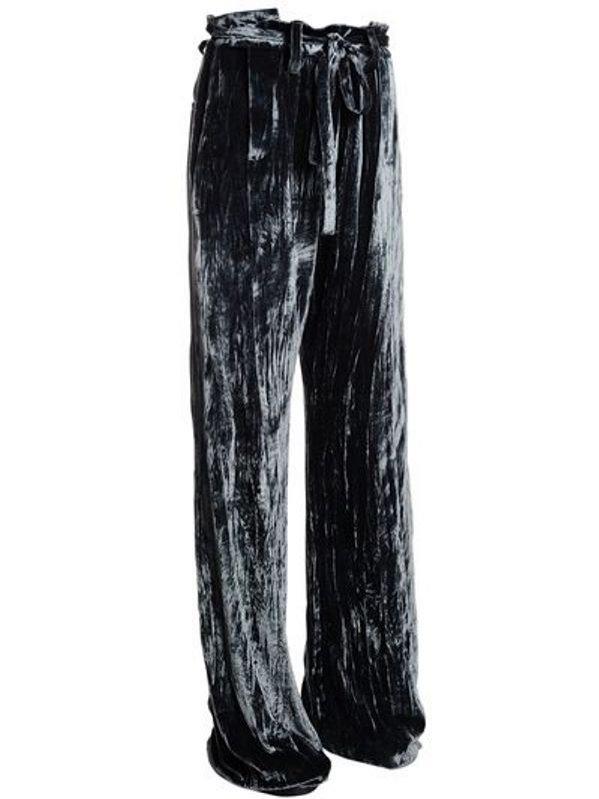 Aksamitne spodnie Ann Demeulemeester / Luisa Via Roma (4771 zł)