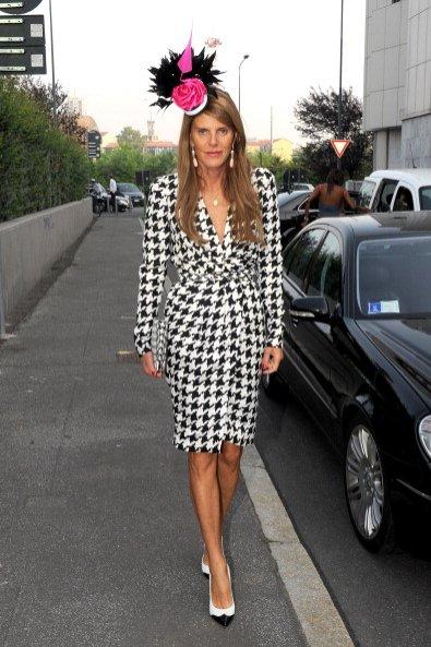 Anna Dello Russo w sukience z kolekcji Salvatore Ferragamo