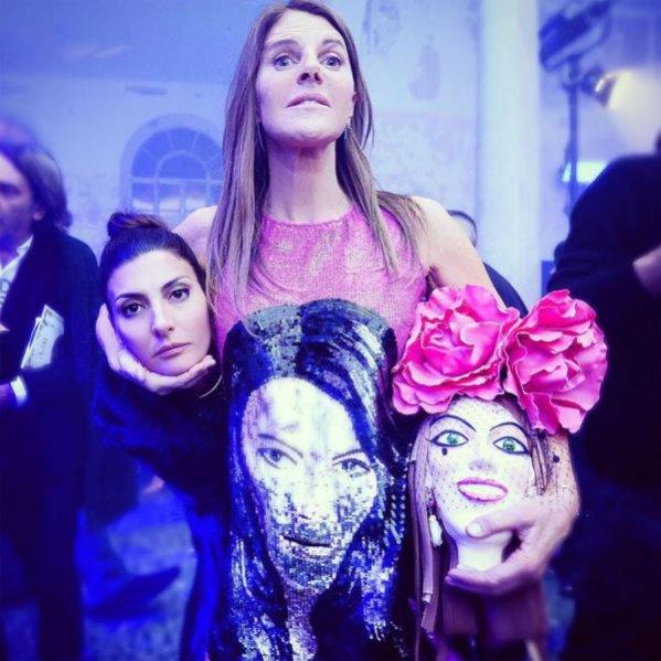 GUCCI. Anna Dello Russo i Giovanna Battagla Engelbert oddały hołd idei Alessandro Michele'a, publikując zdjęcie z podpisem