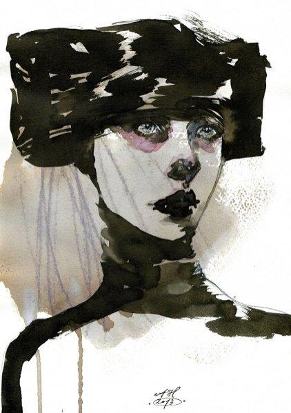 1. Z archiwum Anny Halarewicz - pokaz kolekcji Alexander McQueen 2009