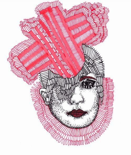grafiki Huberta Kołodziejskiego zamieszczone na blogu Diane Pernet