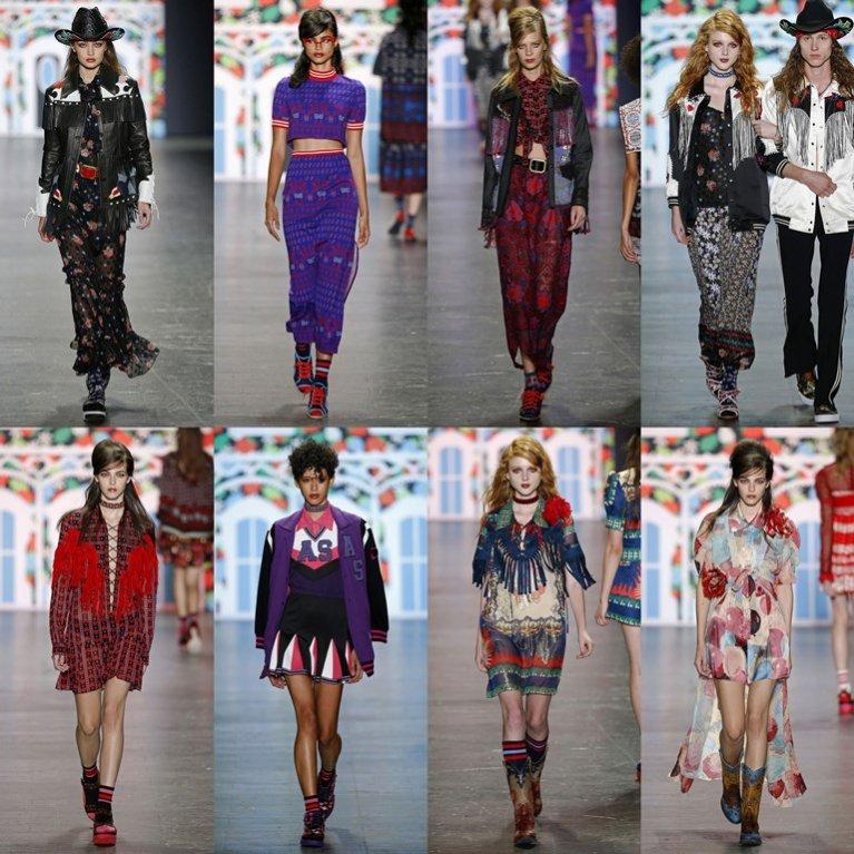 New York Fashion Week wiosna lato 2017 - pokaz Anna Sui