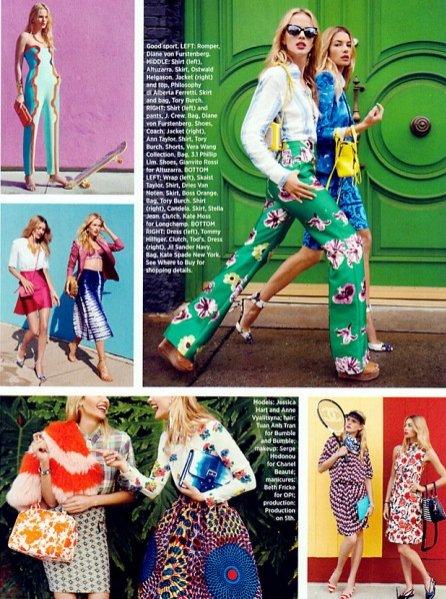 Anne V i Jessica Hart dla Harper's Bazaar