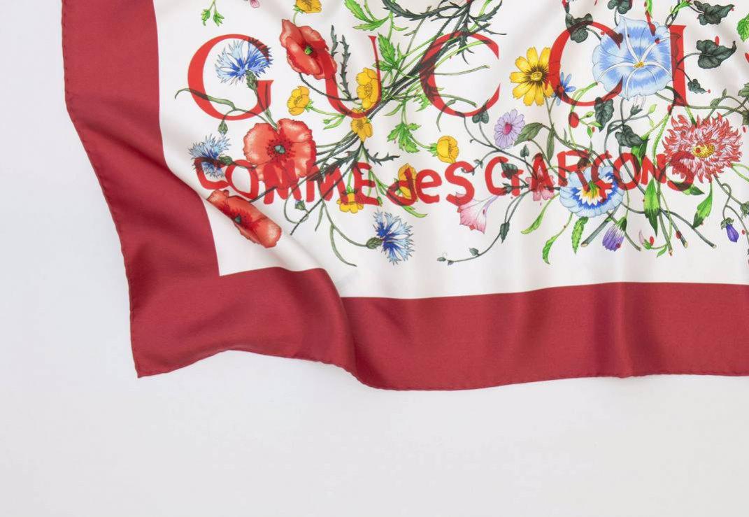 Comme des Garçons x Gucci: printy na apaszkach w kolekcji 2015