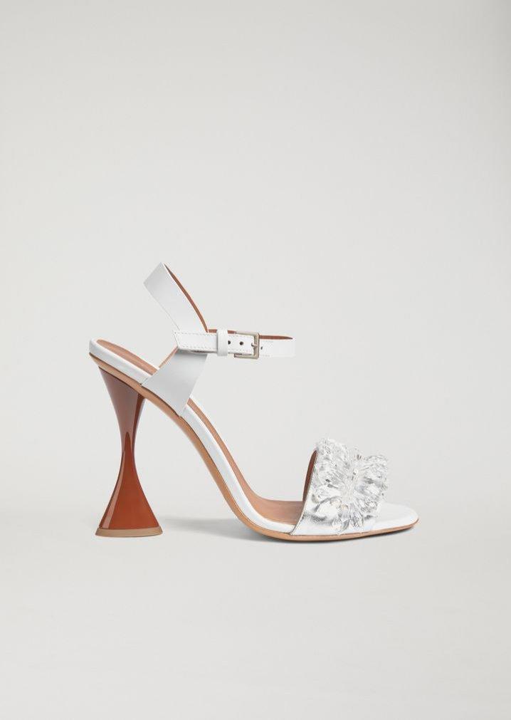 Sandały na szpilce na geometrycznym obcasie, Armani, 680 euro