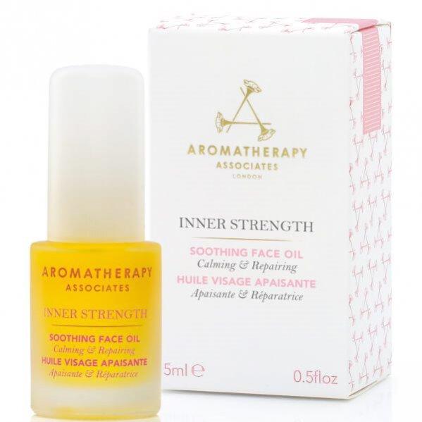 Kojący i regenerujący olejek do twarzy Inner Strength, Aromatherapy, ok. 300 pln
