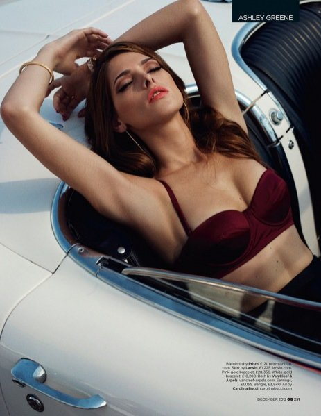 Ashley Greene w grudniowym GQ UK