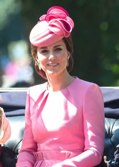 Kate Middleton w różowej kreacji