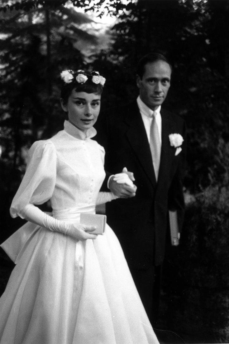 Audrey Hepburn w sukni ślubnej