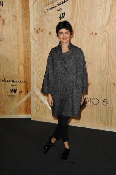 Audrey Tautou na prezentacji kolekcji Isabel Marant dla marki H&M w Paryżu