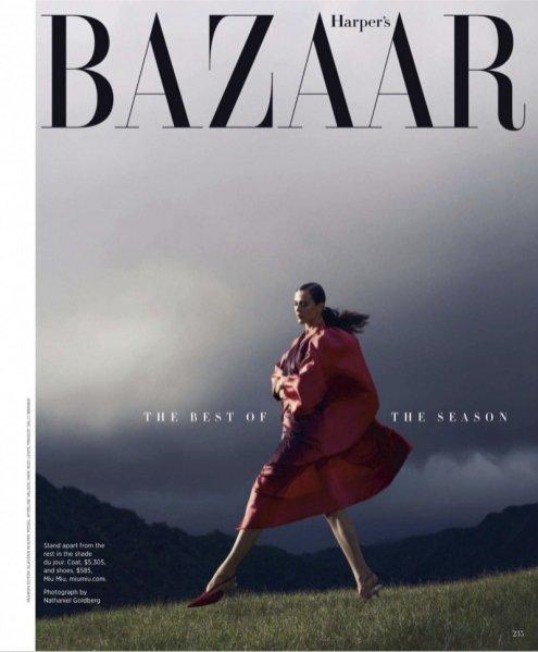 Aymeline Valade w obiektywie Nathaniela Goldberga dla kwietniowego Harper's Bazaar US