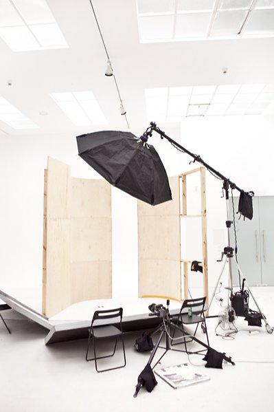 backstage sesji do katalogu Łukasza Jemioła na targi Vision w Kopenhadze