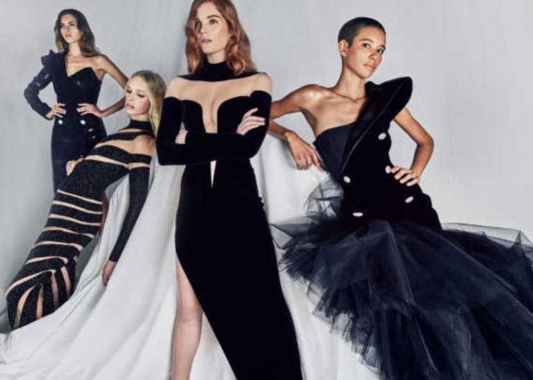 BALMAIN. Marka Oliviera Rousteinga lansuje swoje Couture na czerwony dywan, wypuszczając kapsułową kolekcję