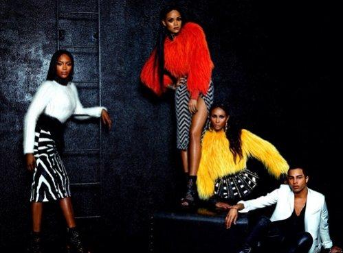1. Rihanna, Naomi Campbell, Iman oraz Olivier Rousteing dla wrześniowego W Magazine