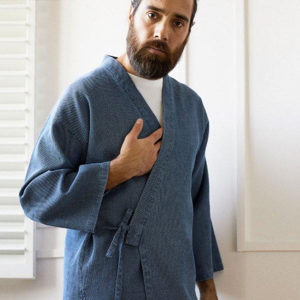 Bawełniane kimono męskie, Zara Home, 279 pln