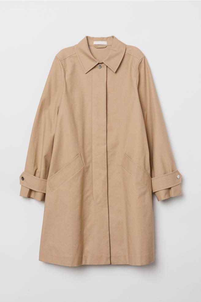 Bawełniany płaszcz, H&M, 229 pln