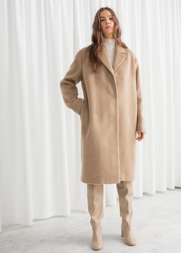 Długi płaszcz z miękkiej wełny,& Other Stories, 199 euro