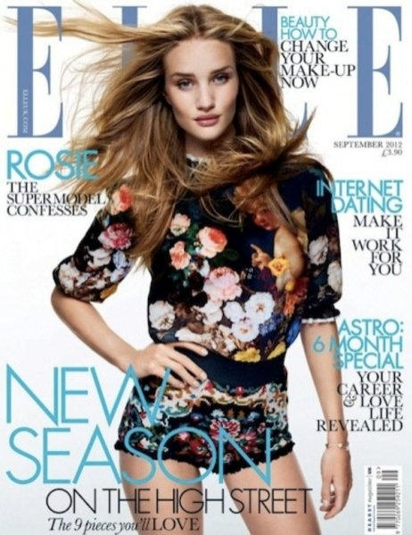 Rosie Huntington-Whiteley dla Elle UK