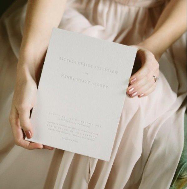 Zaproszenie ślubne, Bella Figura