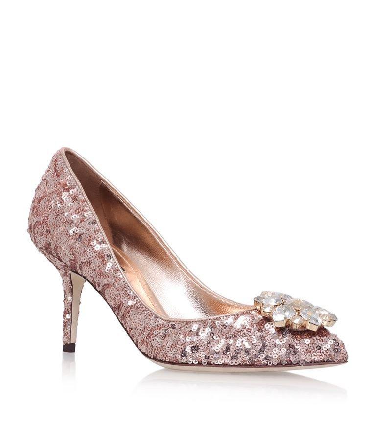 Cekinowe buty w kolorze jasnym, Dolce&Gabbana, 3200 pln
