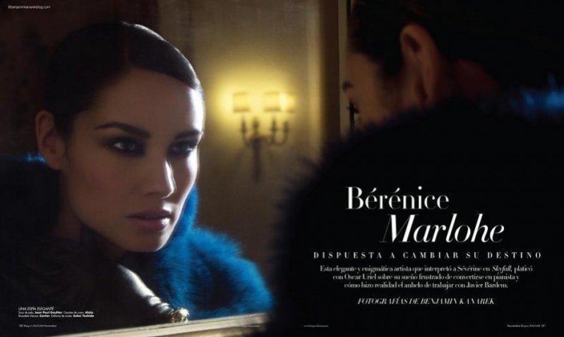 Bérénice Marlohe w sesji dla listopadowego Harper's Bazaar España