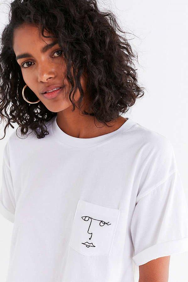 Biały t-shirt z nadrukiem, Future State, 29 dolarów