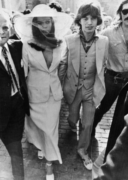 Bianca Jagger - kreacja ślubna