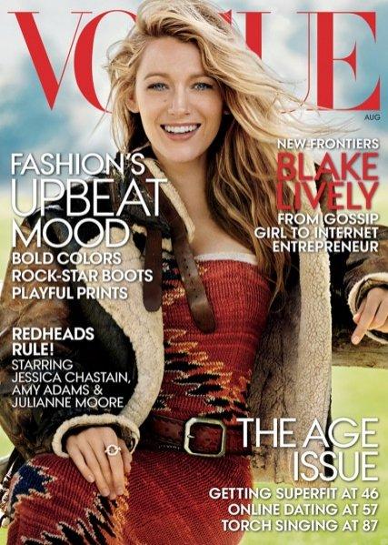 1. Blake Lively w okładkowej sesji dla sierpniowego Vogue US