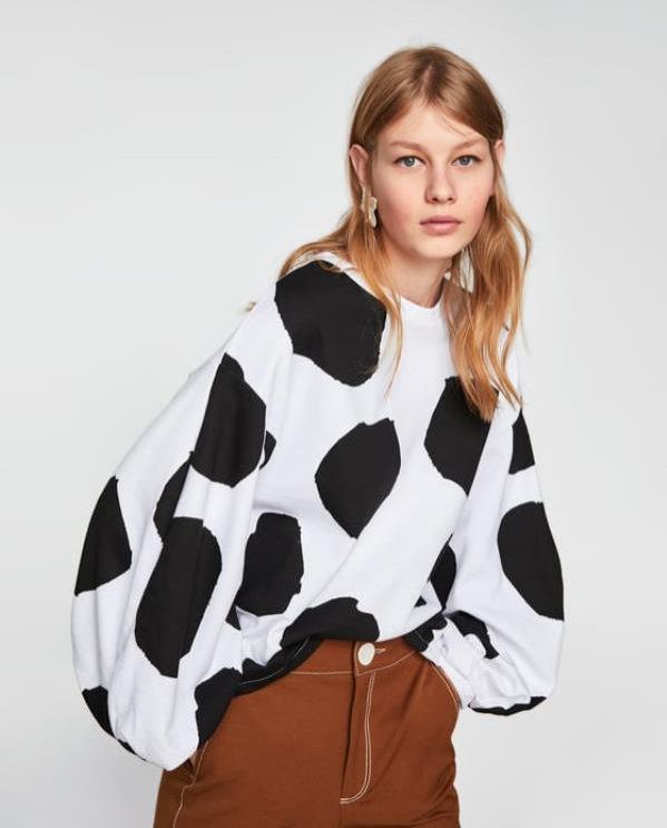 Bluza w grochy, Zara, 49 pln