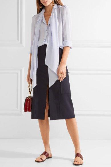 Jedwabna bluzka z wiązaniem, Chloe, 805 funtów