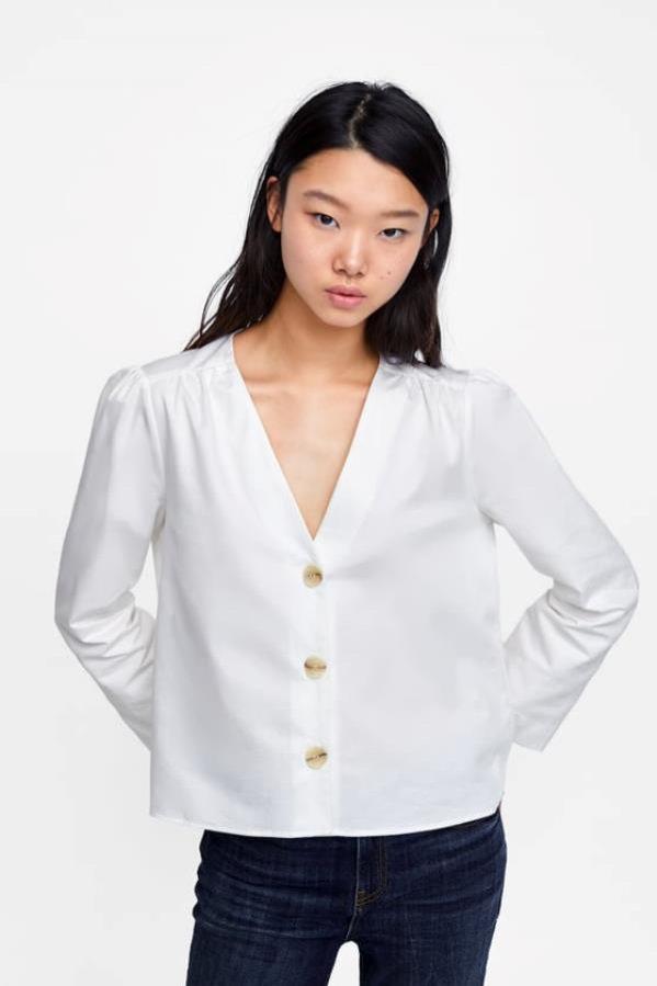 Bluzka zapinana na guziki, Zara, 69 pln