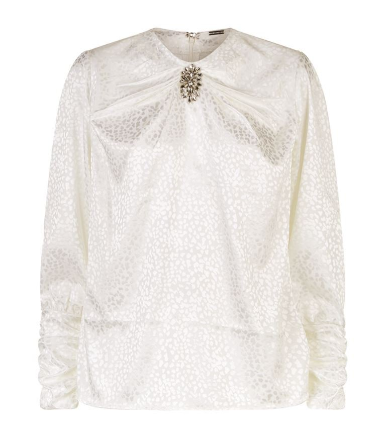 Bluzka w cętki z broszką, Dodo Bar Or/Harrods, 1200 pln