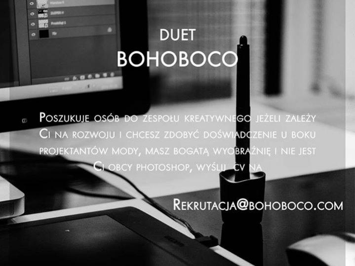 1. Bohoboco poszukuje współpracowników.