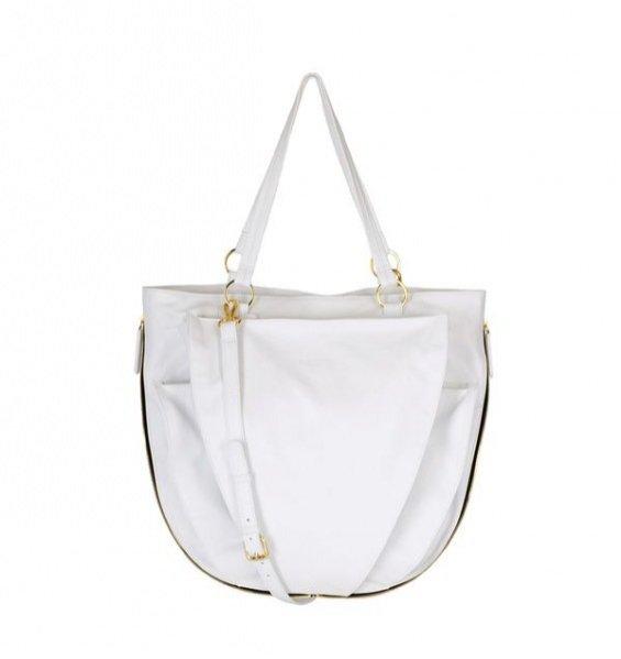 BOHOBOCO torba kieszenie L biała