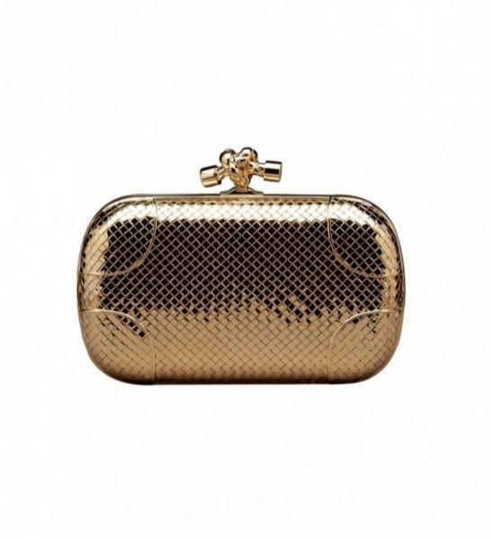 Kopertówka Bottega Venetta Knot wykonana z 18-karatowego złota