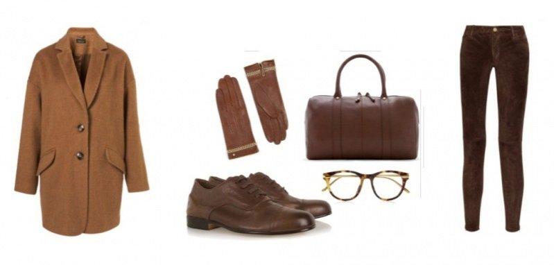 płaszcz Topshop/ rękawiczki Ted Baker/ torba Mango/ buty Esquivel Captoe/ okulary Linda Farrow/ spodnie Michael by Michael Kors