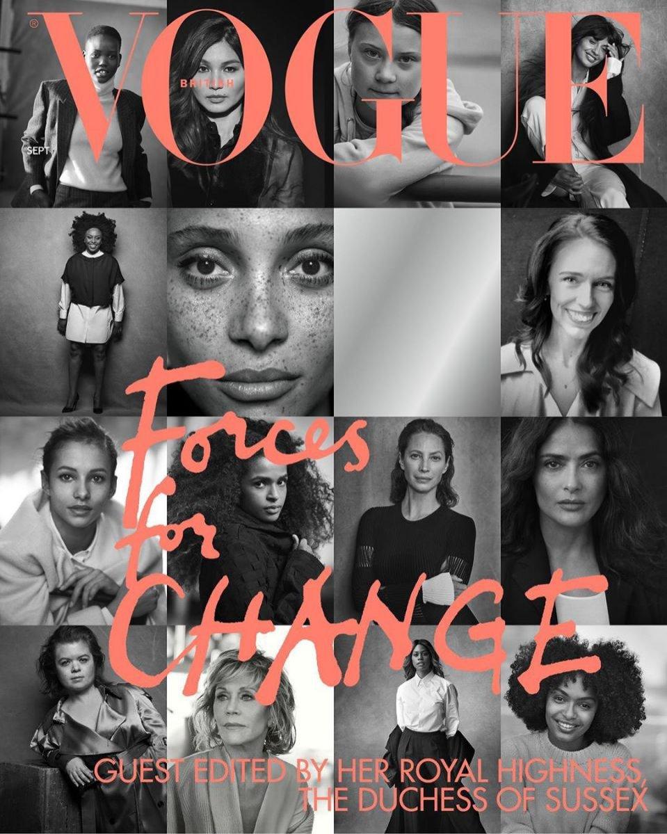 Peter Lindbergh - okładka Vogue UK