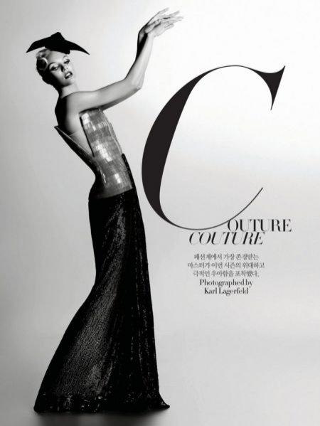 Sesja Couture Couture z Candice Swanepoel ze zdjęciami Karla Lagerfelda