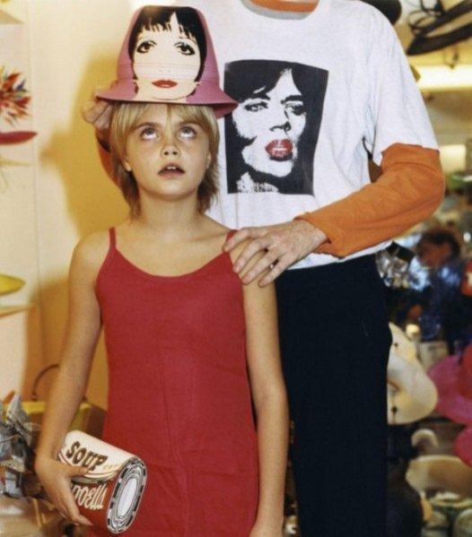 pierwsza sesja Cary Delevingne - Vogue Italia 2003