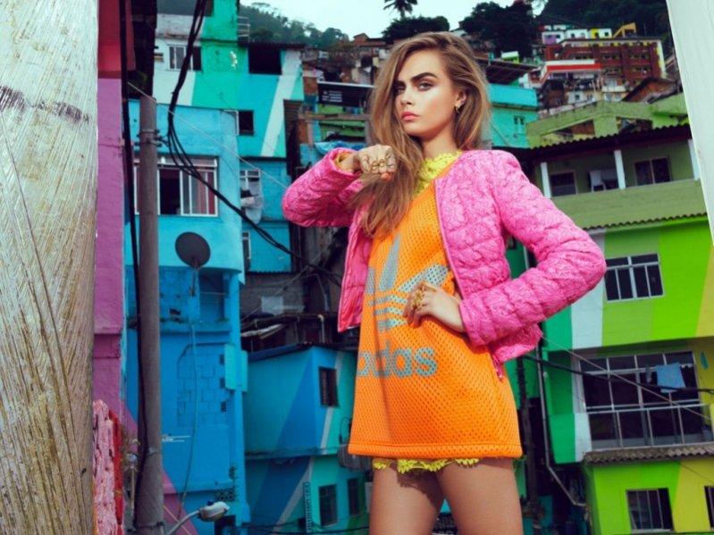 1. Cara Delevingne dla Vogue Brazil luty 2014