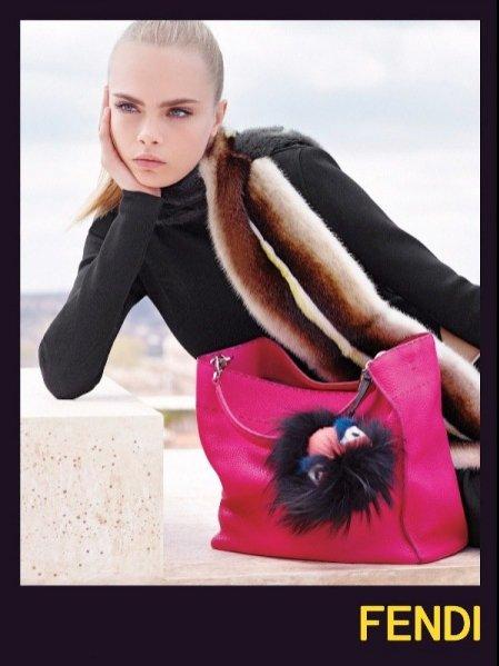 Cara Delevingne w kampanii Fendi jesień zima 2013/14