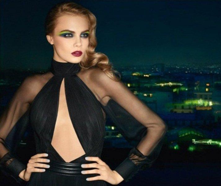Cara Delevingne w kampanii kosmetyków do makijażu Yves Saint Laurent jesień zima 2013/14